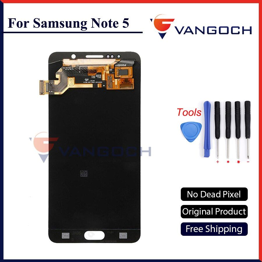 100% Original VANGOCH LCD Screen for Samsung Galaxy Note 5 N9200 N920G Touch Screen Digitizer Assembly Replacement Free Shipping
