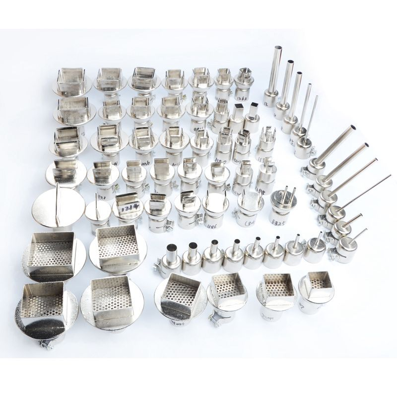 65pcs/set Heat Gun Nozzles Heat Air Gun Solder Kit For 850 852 952 SOIC B QFP PLCC SOP IC Hot Air Soldering Station