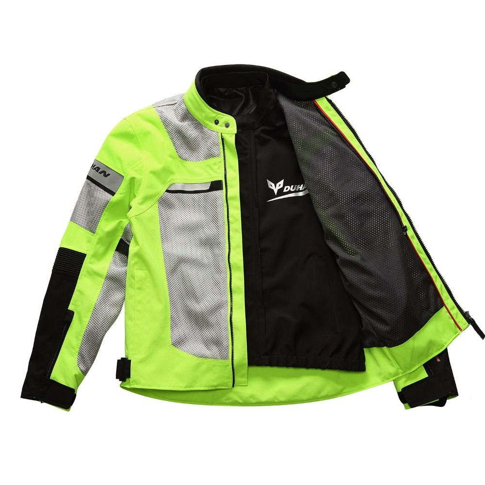 Brand New DUHAN Summer Motorcycle Back and Elbow Protection Jacket Motocross Breathable MOTO Mesh for Clothing Men and Women