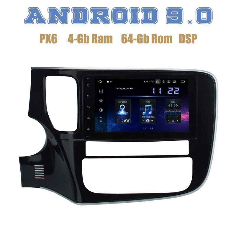 Für Mitsubishi outlander 2013-2018 PX6 Android 9.0 Auto GPS Radio player mit DSP 4 + 64GB wifi 4g usb Auto Stereo