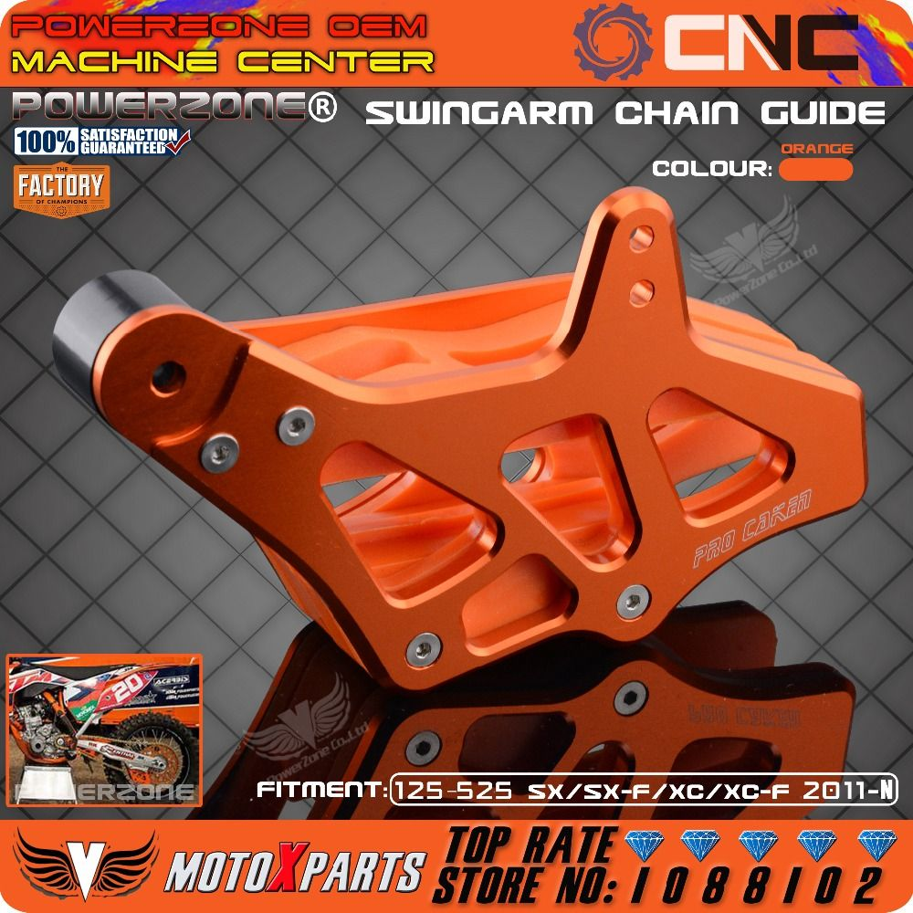 Billet Chain Guard Guide Protector Protection Slider For KTM EXC EXCF SX SXF XC XCF XCF-W XCW 125-530 2008-2015 Motocross Enduro