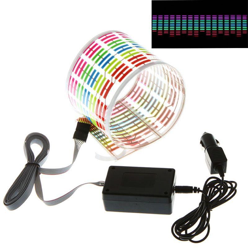 Новый автомобиль укладка разработан автомобильный Стикеры Музыка Ритм светодиодная вспышка света лампы Звук активированного Эквалайзер а...