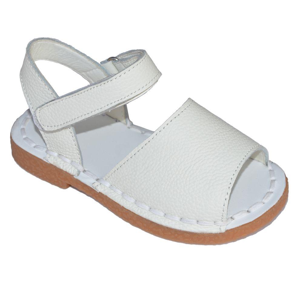 Bebé sandalias 2017 verano niños rosa azul marino Blanco clásico para las niñas Niño Zapatos handsewing chaussure sandalias llanas