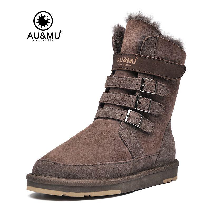 2018 AUMU Australien Frauen Mitte Kalb Schnee Stiefel Kurze Winter Stiefel N310