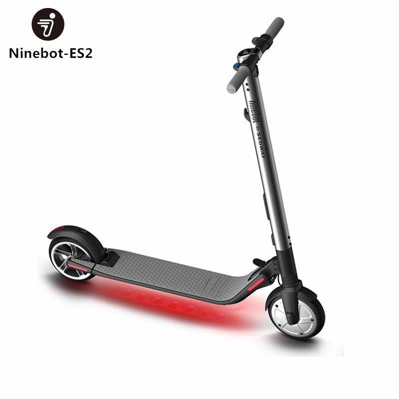 Original Ninebot KickScooter ES2 Smart Electric Scooter foldable lightweight long board hoverboard skateboard 25KM with APP