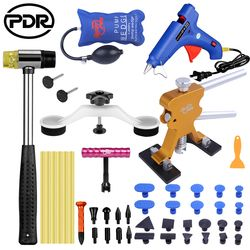 PDR Alat DIY Mobil Tubuh Paintless Dent Repair Tool Set Peyek Penarik Reverse Hammer Sucker Remover Lifter untuk Menghapus Penyok hujan Es