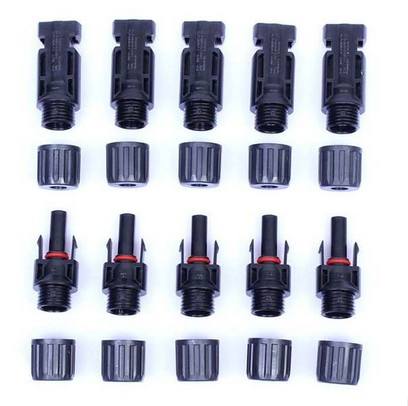 Free shipping MC4 solar panel wireless cable connector 5 pairs/10 pairs