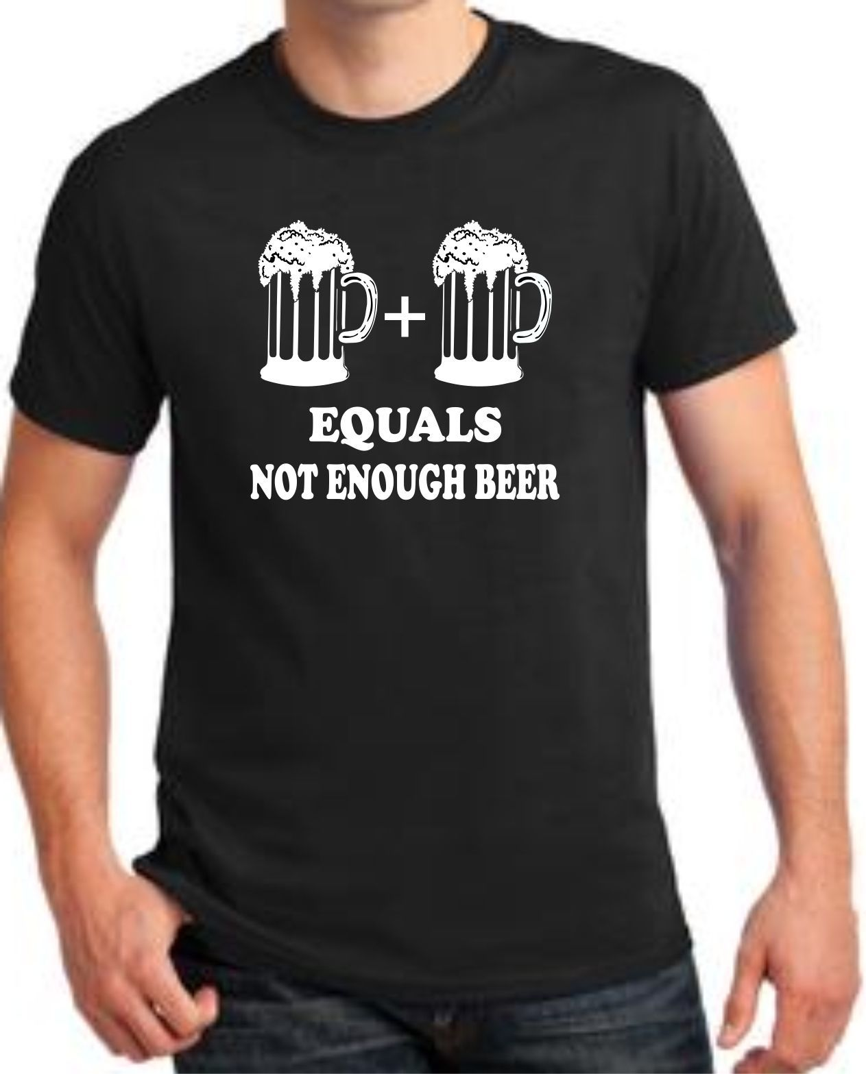 Best T Shirts Men'S Short Graphic Crew Neck Not Enough Beer . Beer Drinking  T Shirts