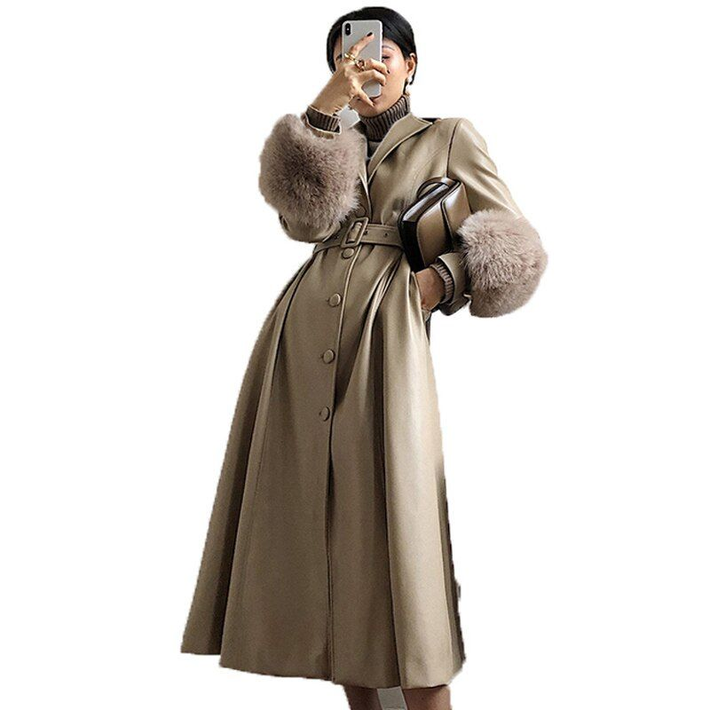 Real Genuine Leather Jacket Sheepskin Coat Female Jacket Autumn Winter Elegant Windbreaker Korean Women's Fur Coat ZT1653