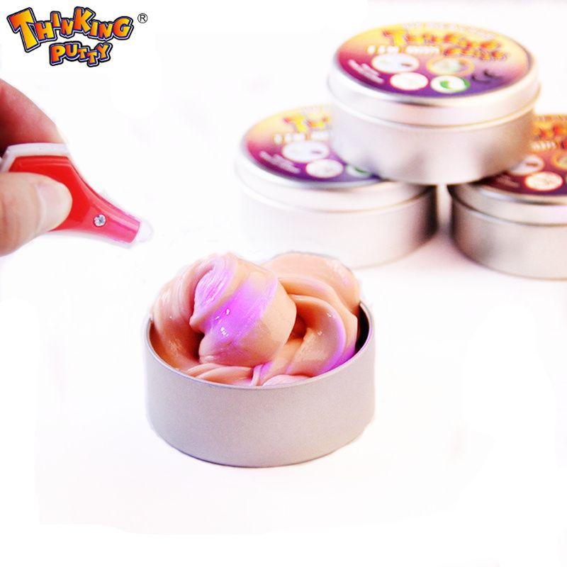 Neuheit Kreative Hand Gum Verfärben Plastilin Schleim Intelligente Silly Putty licht UV Ton Stress Schlamm Spielzeug Kinder Geschenk