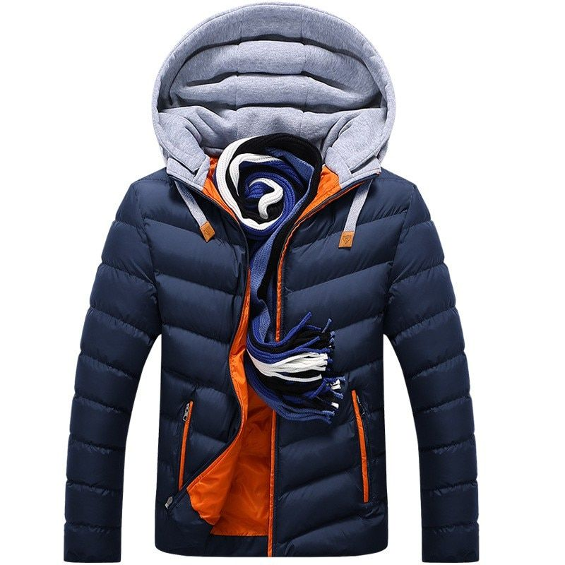 2018 High end! Men winter white duck down jacket coat parka men's casual thickening warm jackets Hooded Coats Outerwer CF19