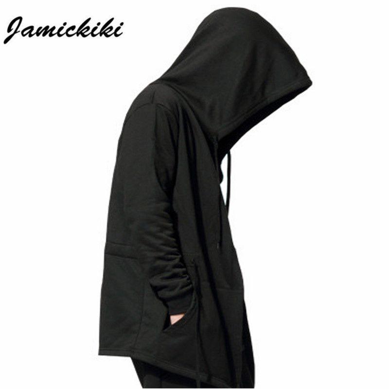 Hot Jamickiki Brand Men's Black Cloak Hooded Clothing Hip Hop Full Sleeves Men Women Unisex XXXXXL H01