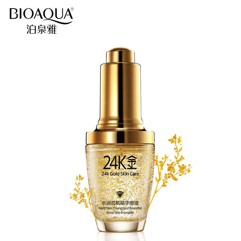 BIOAQUA Brand Skin Care 24K Gold Essence Anti Wrinkle Face Anti Aging Collagen Whitening Moisturizing Hyaluronic Acid Liquid