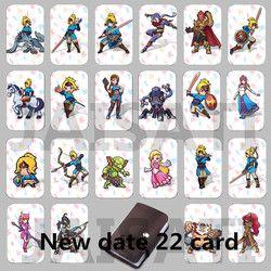 22 шт. NTAG215 игры карты NFC новый 4 герой тег данных 20 сердце волк Ссылка для Zelda Дыхание диких НС переключатель