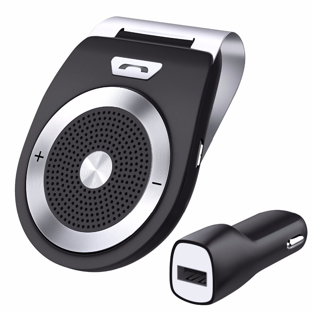 Bluetooth Car Kit Handsfree <font><b>Noise</b></font> Cancelling Bluetooth V4.1 Receiver Car Speakerphone Multipoint Clip Sun Visor for two Phones