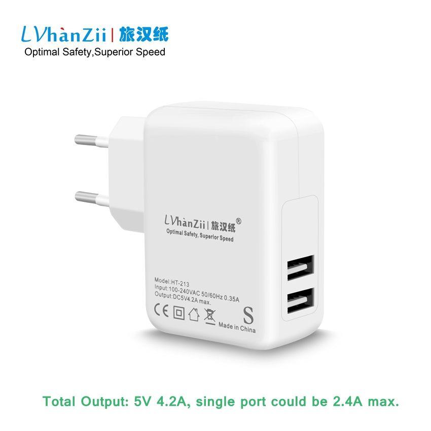 Europe UE Plug 20 W 4.2A AC Adaptateur Rapide De Charge USB Puissance chargeur Pour iPhone pour Samsung Galaxy Note4 Tablet pour HTC Un M9