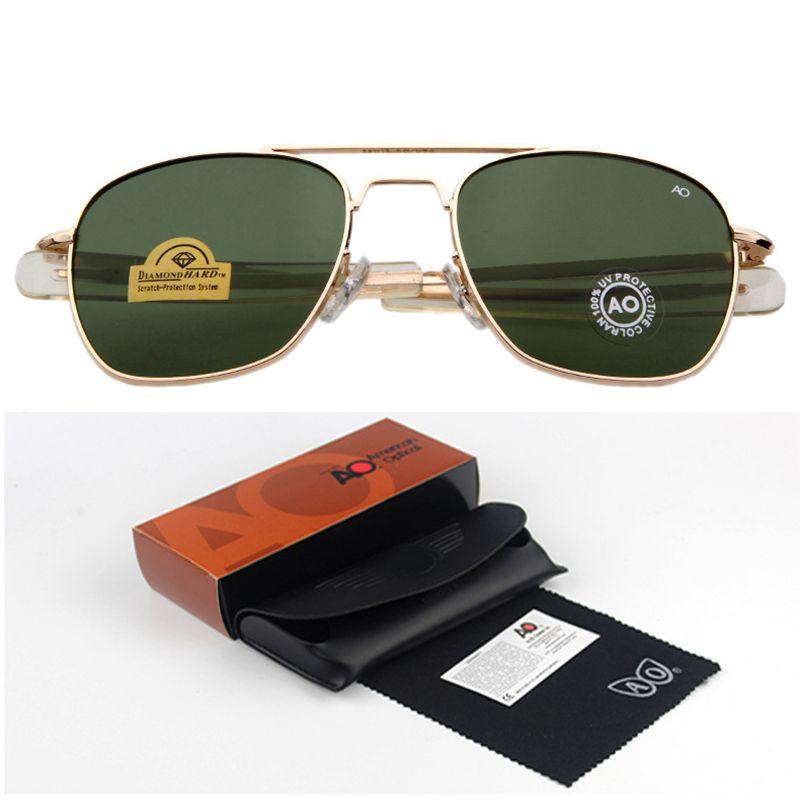 Fashion Sunglasses Men American Army Military Brand Designer AO Sun Glasses For Male Optical Glass Lens  de sol RS263
