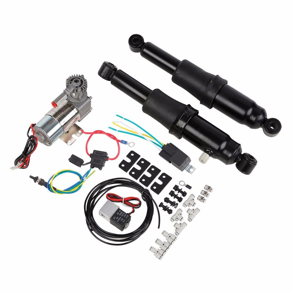 Adjustable Rear Air Ride Suspension Kit For Harley Davidson Touring Bagger Electra Street Glide Road King 1994-2018 motorcycle