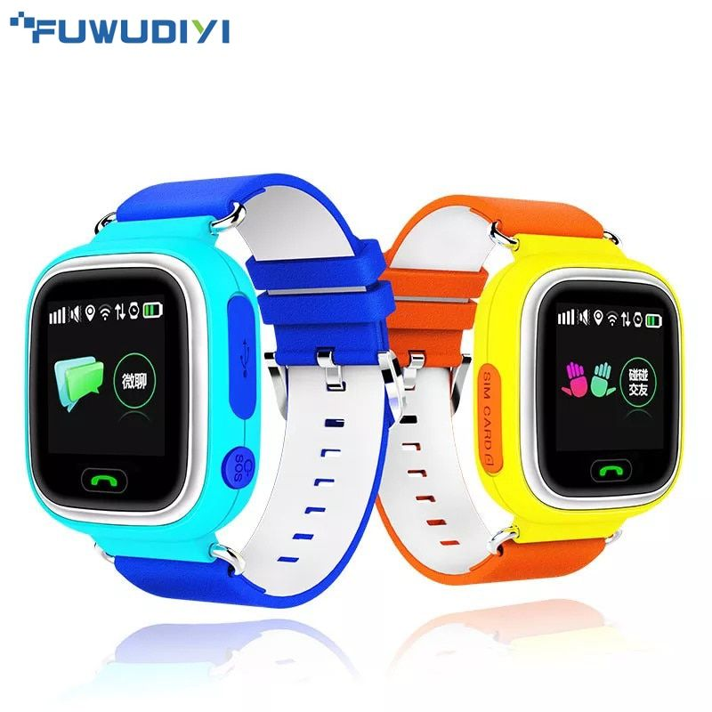 FUWUDIYI Child Q90 Touch Screen WIFI Smart baby Watch Location Finder Device GPS Tracker watch for Kid Anti Lost Monitor PK Q50