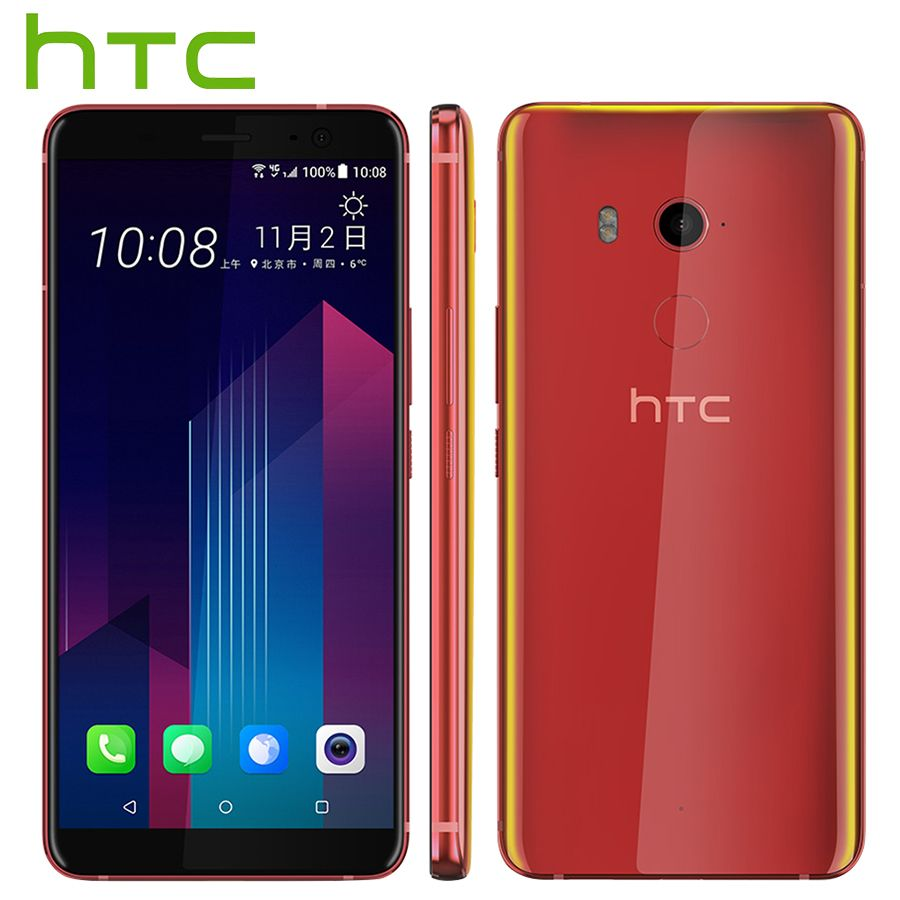 Original neue HTC U11 Plus Handy 6 GB 128 GB Snapdragon 835 Octa-core 6,0 zoll Android 8.0 IP68 Wasserdicht Staubdicht telefon