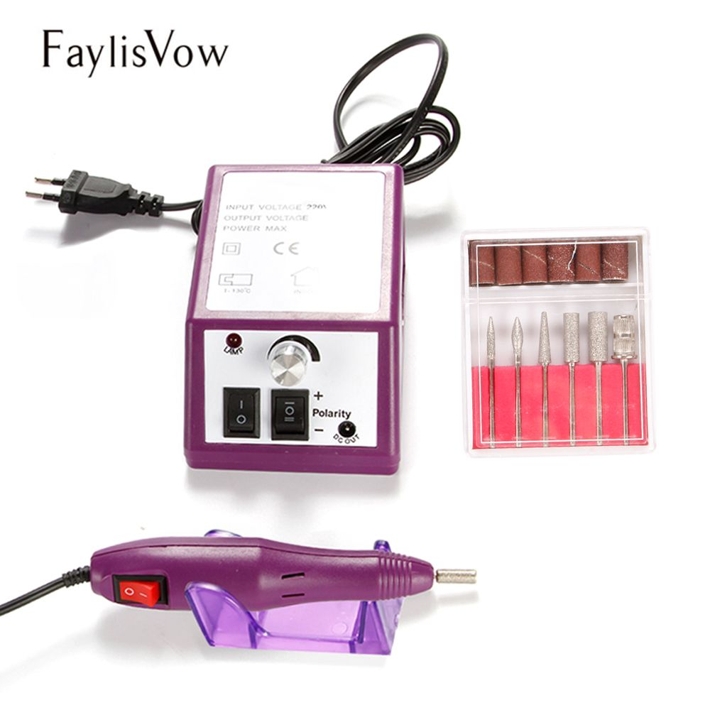 Electric Nail Art Polishing Machine 20000 RPM Apparatus for Manicure Pedicure Cuticle Acrylic Gel Remover Milling Nail Drill Bit
