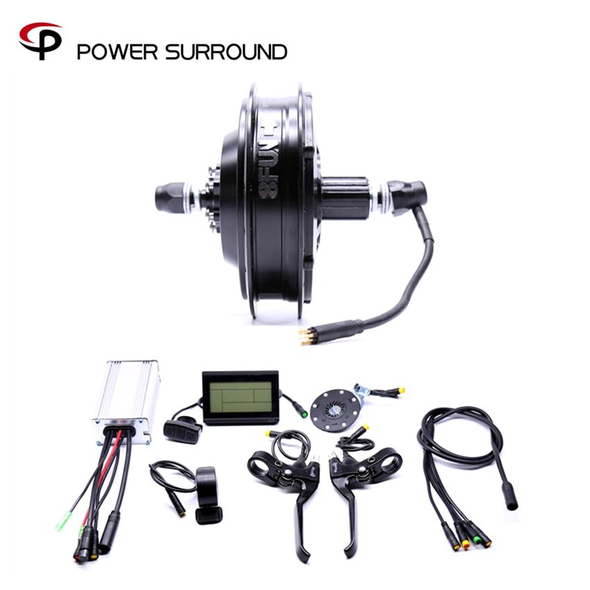 2017 Rushed Waterproof 48v500w Bafang Cst Rear Cassette Electric Bike Conversion Kit Brushless Motor Wheel with EBike system