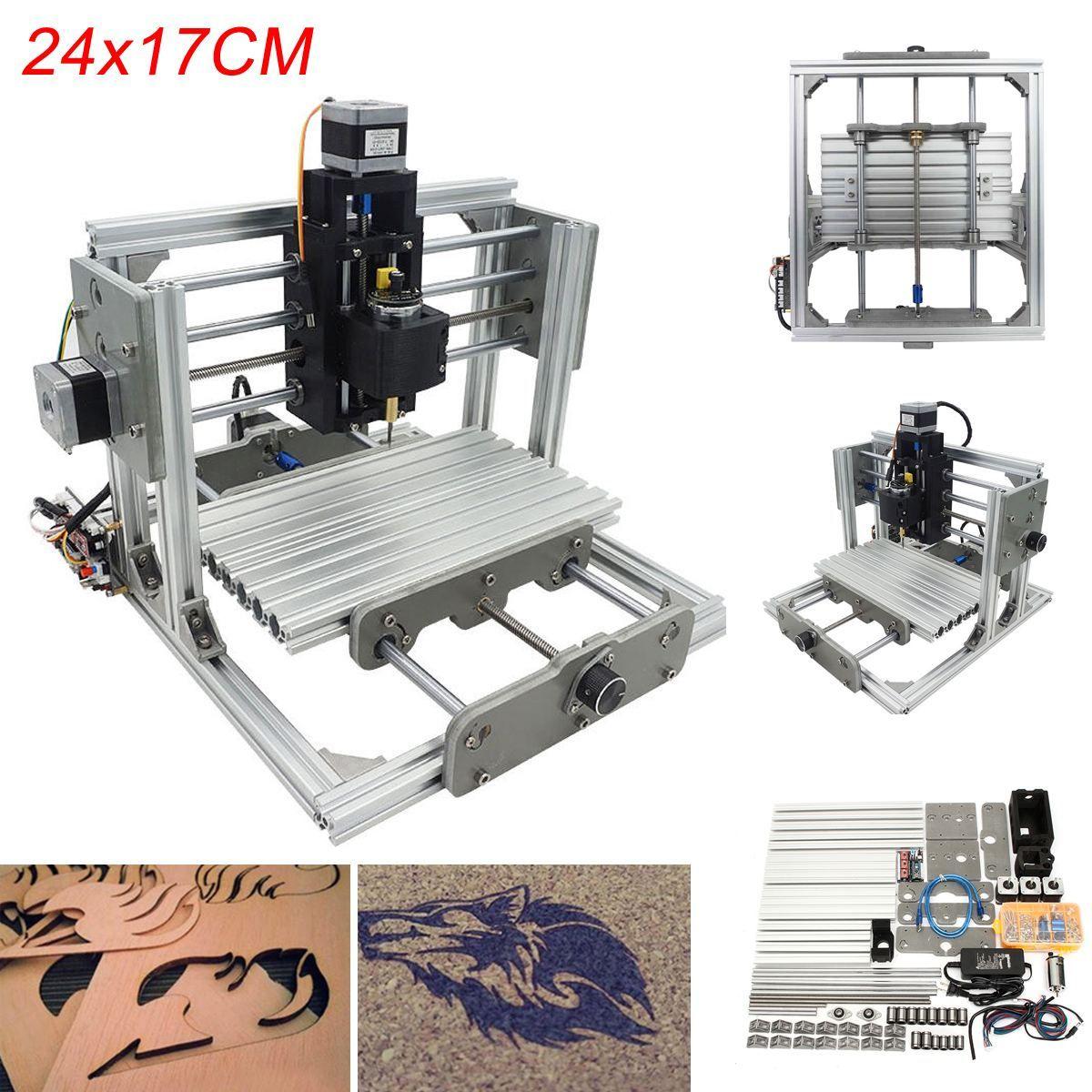 Mini 3 Achsen CNC DIY Gravur Fräsmaschine Montage Kit USB Desktop Metallstecher PCB Fräsmaschine Arbeitsbereich 24x17 cm