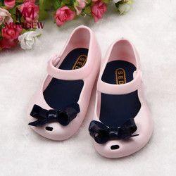 MUQGEW Lucu Gadis Bayi Anak Rinci Jelly Ikatan Simpul ikan mulut sandal sepatu Sepatu sandal untuk anak perempuan