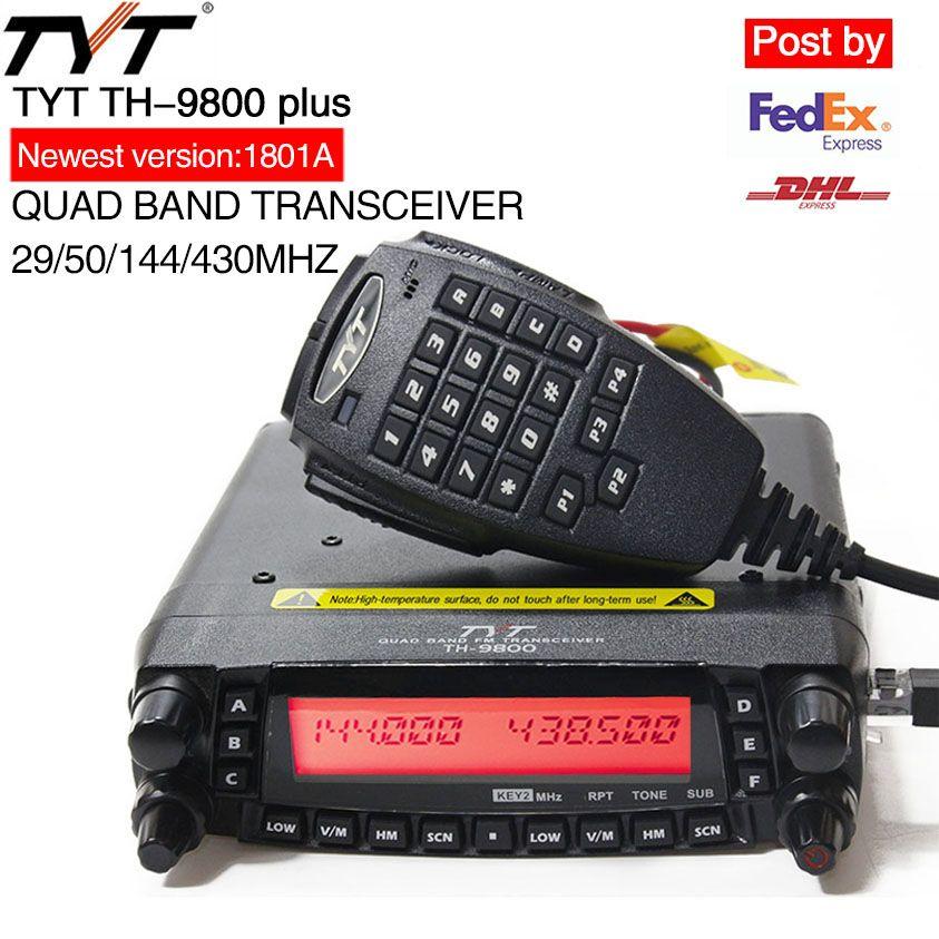 TYT TH-9800 Plus Mobile Radio 1806A Version Quad Band Transceiver TH9800 Walkie Talkie Car Truck Radio Repeater Scrambler