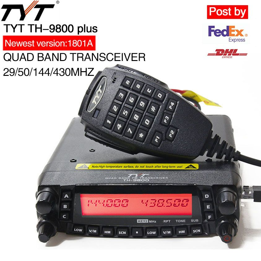 TYT TH-9800 Plus Mobile Radio 1806A Version Quad Band Transceiver TH9800 Walkie Talkie Car Truck Radio Repeater Scrambler