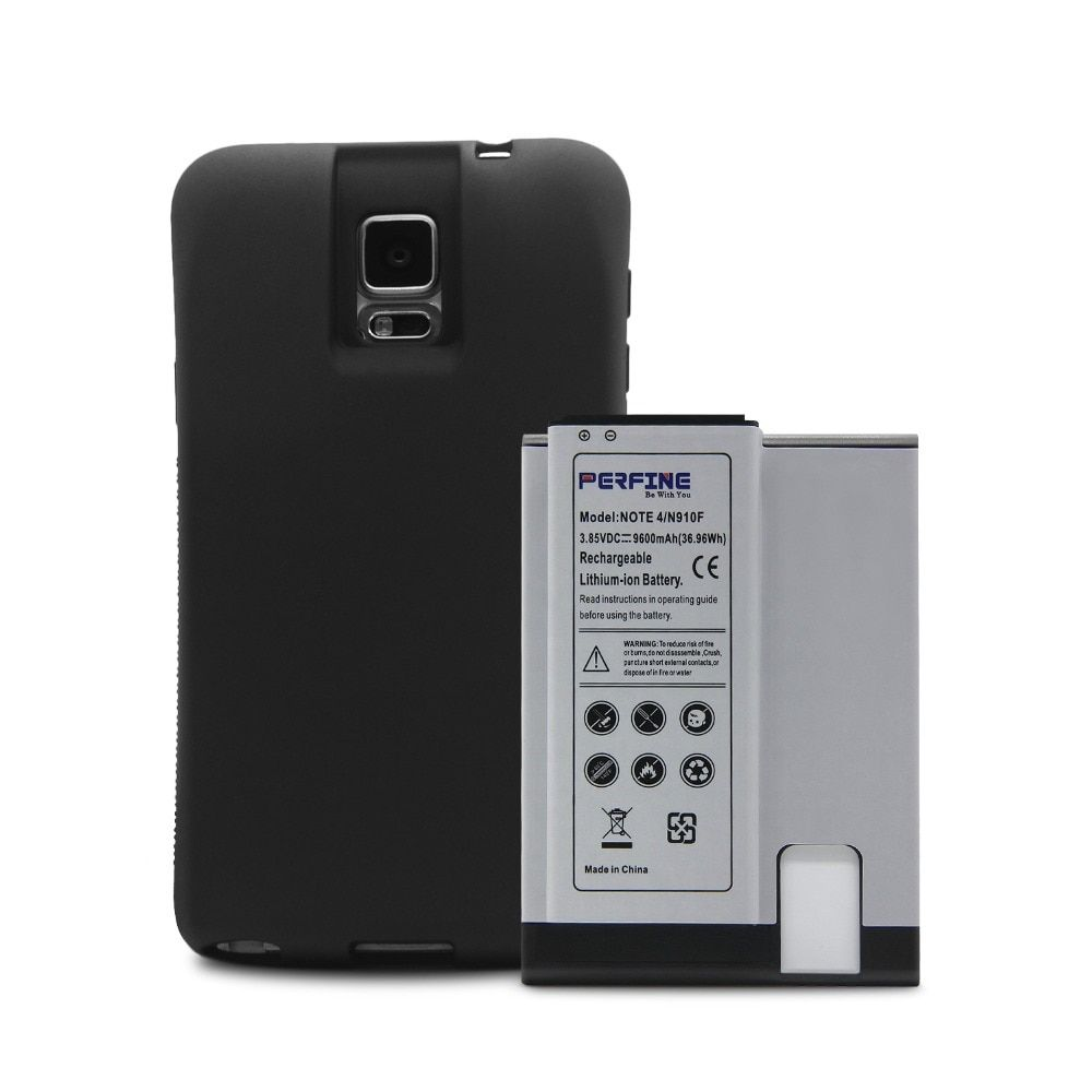 Note 4 Battery 9600mAh+NFC for Samsung Galaxy Note4 Phone N910F N910C N910V N910T+TPU Case EB-BN910BBE Extended Super Battery