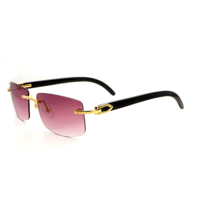 Natürliche Schwarz Buffalo Horn Sonnenbrille Männer Vintage Holz Brillen Spiegel Randlose Brillen Klar Brille Rahmen Oculos Gafas