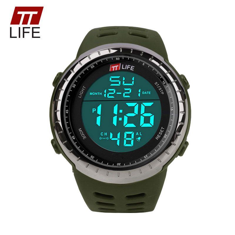 TTLIFE мужские Спортивные часы Дайвинг 30 м цифровой светодиодный Военная Униформа армия часы Роскошный 1167 мужские Повседневное электроники н...