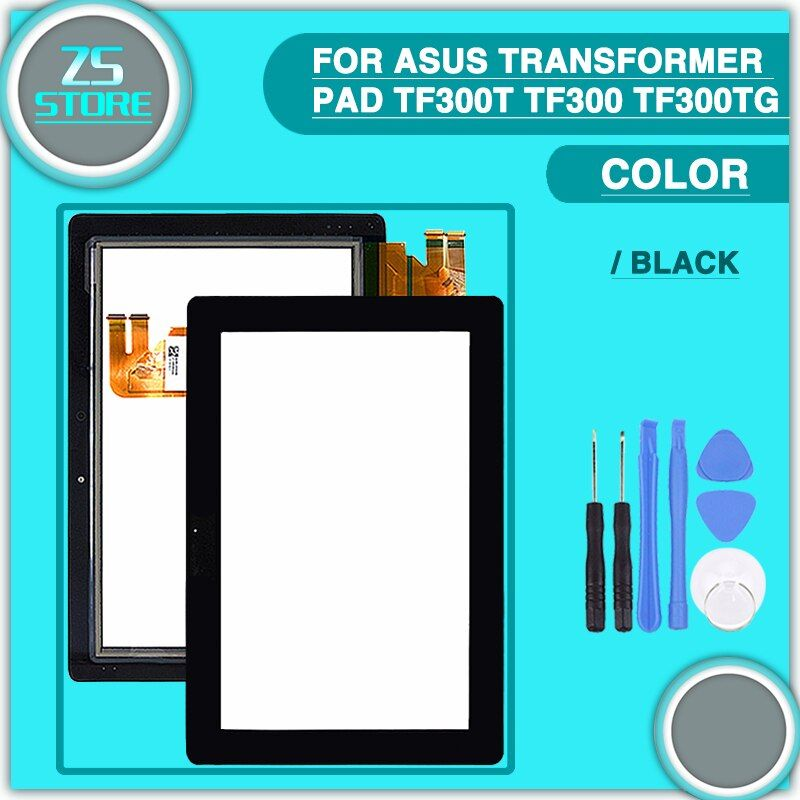 New TF300 Touch Panel For Asus Transformer Pad TF300T TF300 TF300TG G01 & G03 Version Touch Screen Digitizer Sensor With tools