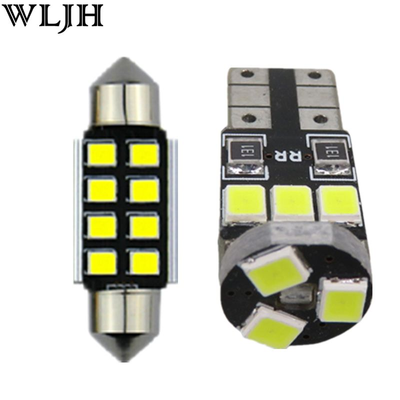 WLJH 18x Canbus Dome Map Glove Box Door Footwell Cargo Bulb Lighting Package Interior Led Kit for Volkswagen Touareg 1 Touareg 2