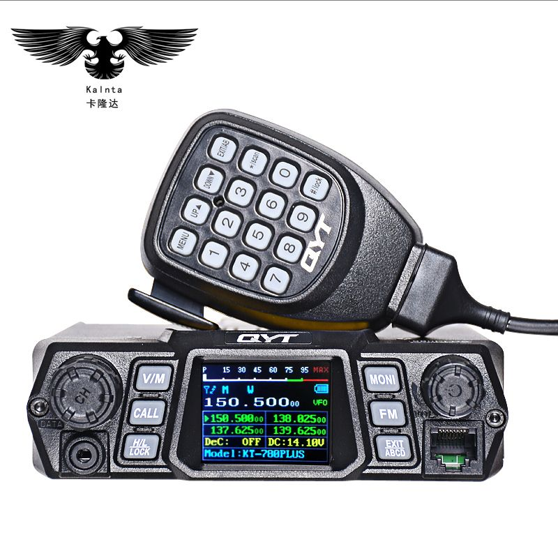 QYT KT-780PLUS 100W high-power mobile raido Dual Band Quad Display vhf  quad band car Stazione Radio CB Walkie talkie per camion