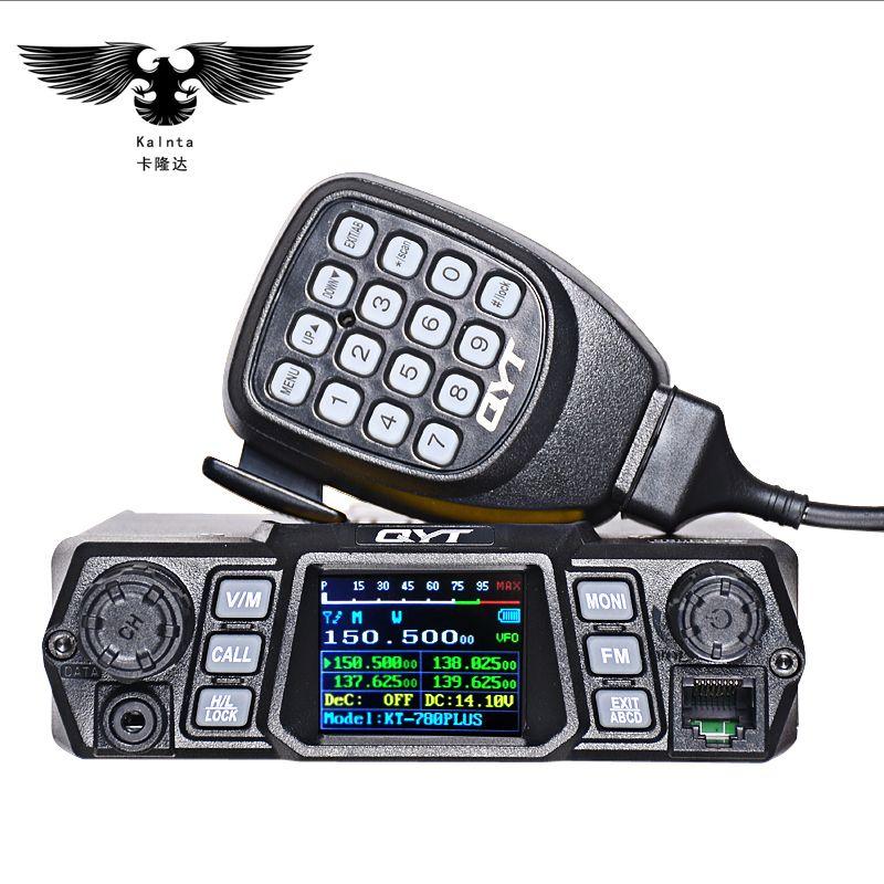 QYT KT-780PLUS 100W high-power mobile raido Dual Band Quad Display vhf quad band car Stazione Radio CB Walkie talkie per camion