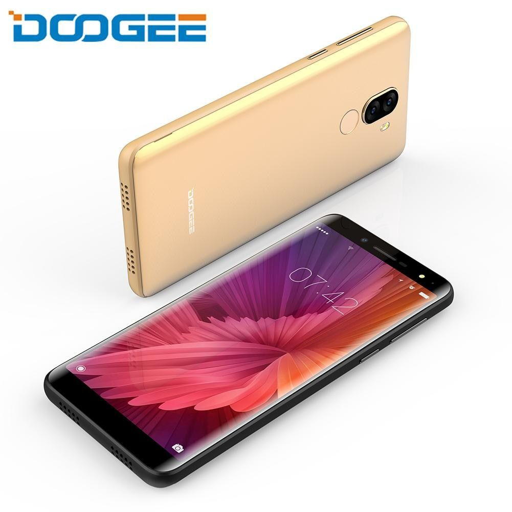 DOOGEE X60L Smartphone 3300mAh MTK6737V 2GB 16GB Android 7.0 5.5 Inch Dual Cameras 13.0MP + 8MP Mobile Phone Cellphone