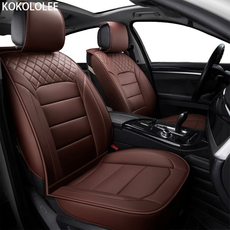 [kokololee] pu Leather Car seat cover For suzuki swift bmw f10 skoda lada rx580 toyota corolla ssangyong mercedes gg car-styling
