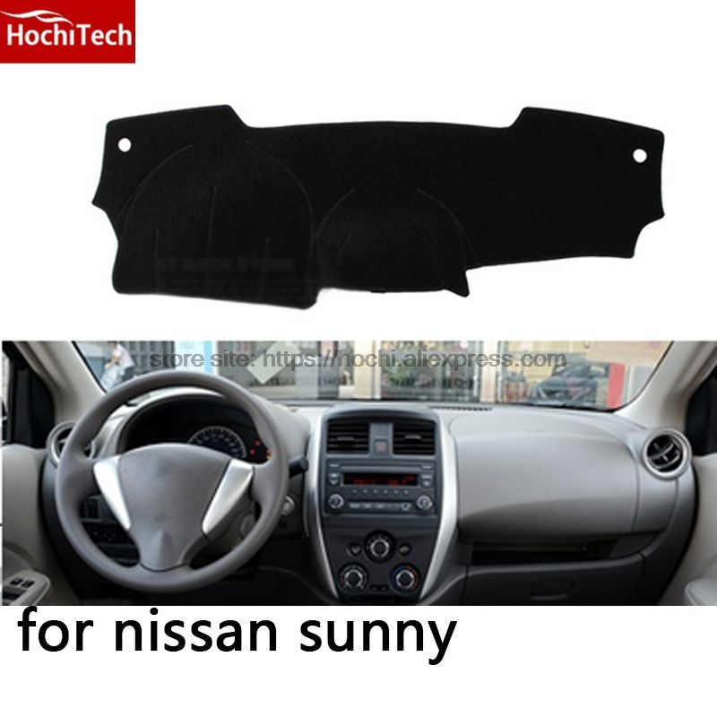 HochiTech for Nissan sunny 2011-2016 dashboard mat Protective pad Shade Cushion Photophobism Pad car styling accessories