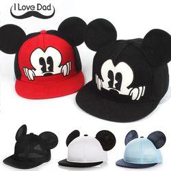 Mickey Telinga Bayi Sun Topi Anak Snapback Bisbol Cap Musim Panas Balita Bayi Laki-laki Anak Perempuan Topi Ember Topi Casquette Kecil