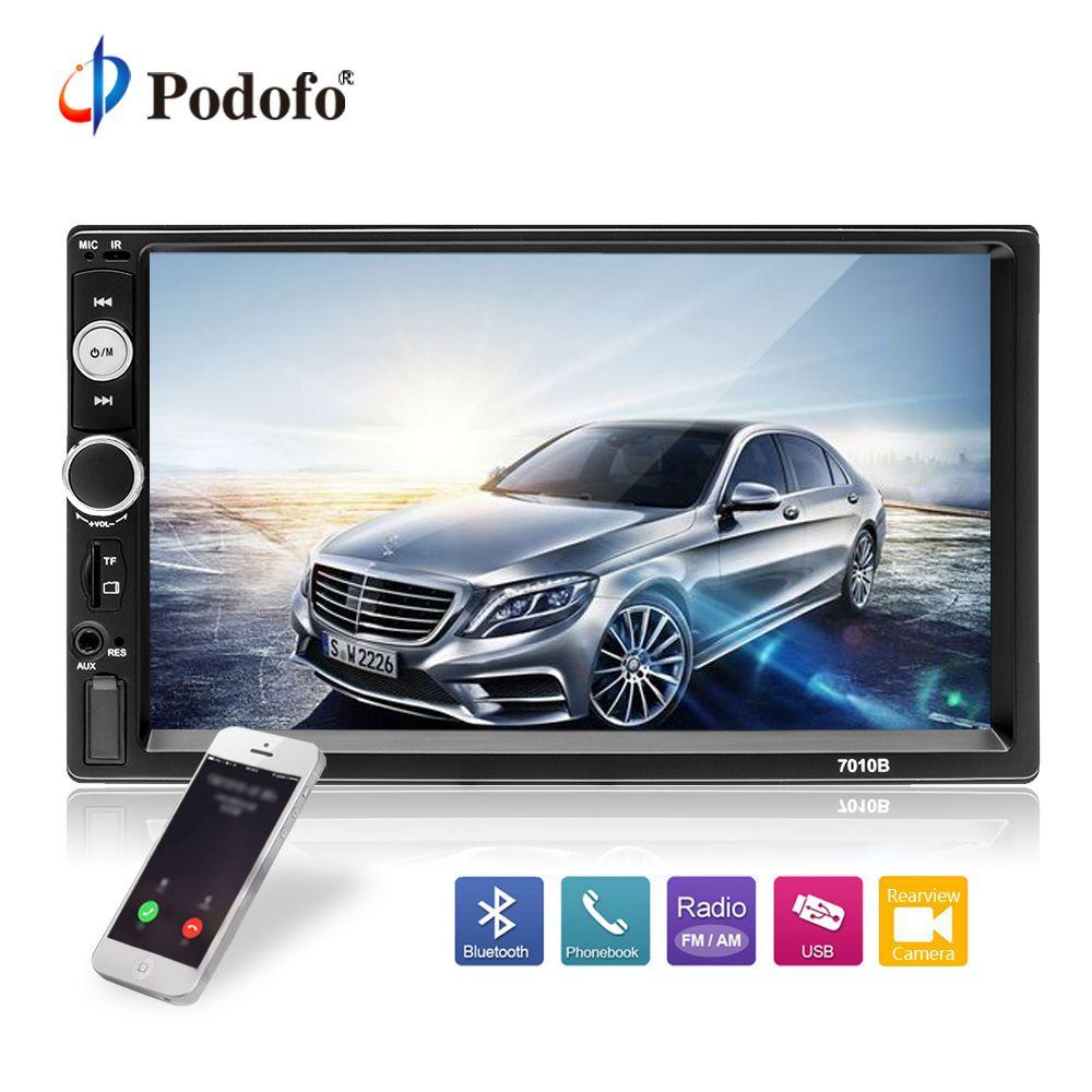 Podofo 2din Car Multimedia MP5 Player Audio Stereo 2DIN Car Radio 7