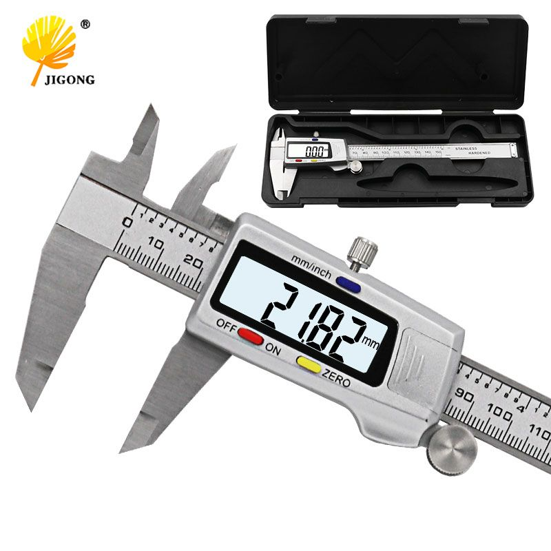 Measuring <font><b>Tool</b></font> Stainless Steel Digital Caliper 6 150mm Messschieber paquimetro measuring instrument Vernier Calipers