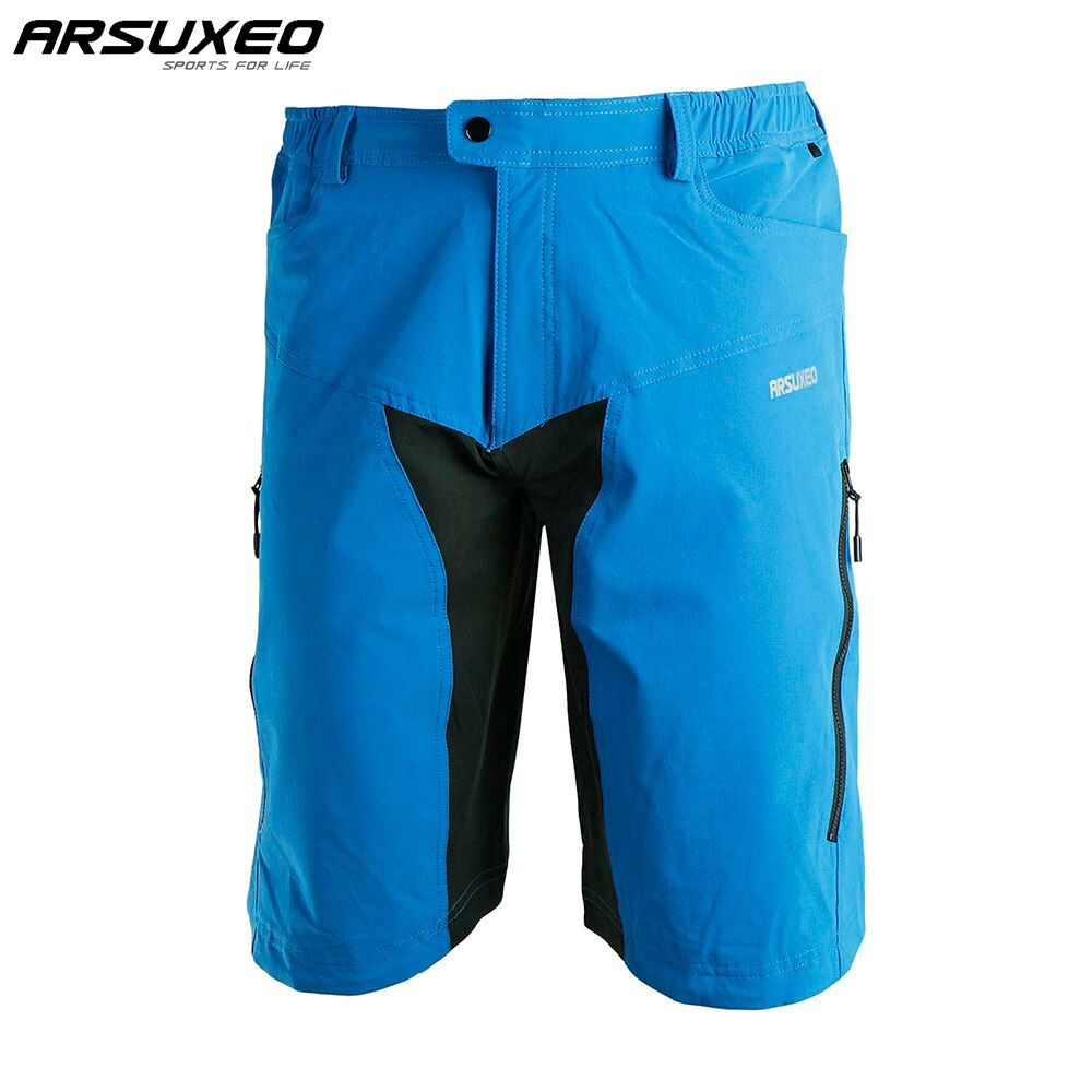 ARSUXEO Mens Outdoor Sports Cycling Downhill MTB Shorts Mountain Bike Bicycle Shorts Wear Jersey Clothing With Pad DH-2