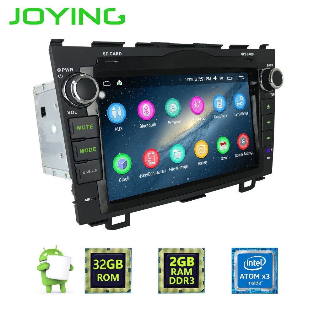 Joying Latest 2GB RAM 2Din Android 6.0 Car Multimedia system for CRV Radio For Honda CR-V HD touch screen GPS Head Unit for CRV