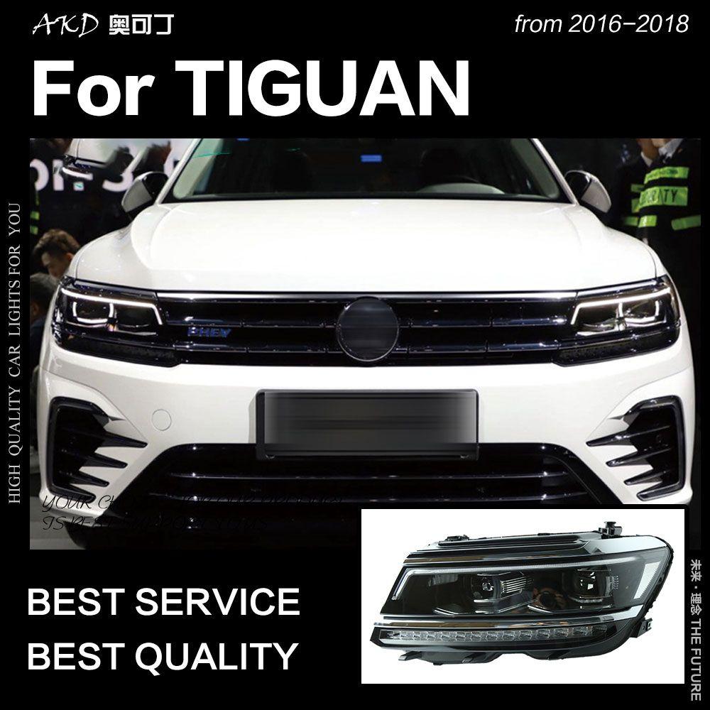 AKD Auto Styling für VW Tiguan Scheinwerfer 2017 Neue Tiguan L LED Scheinwerfer DRL Hid Kopf Lampe Engel Auge Bi xenon Strahl Zubehör