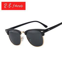 Femmes Hommes lunettes de soleil Marque designer Classique UV400 Miroir Dame Soleil lunettes Mâle Femelle L villeuse Petite Taille Chaude Demi-Trame rose