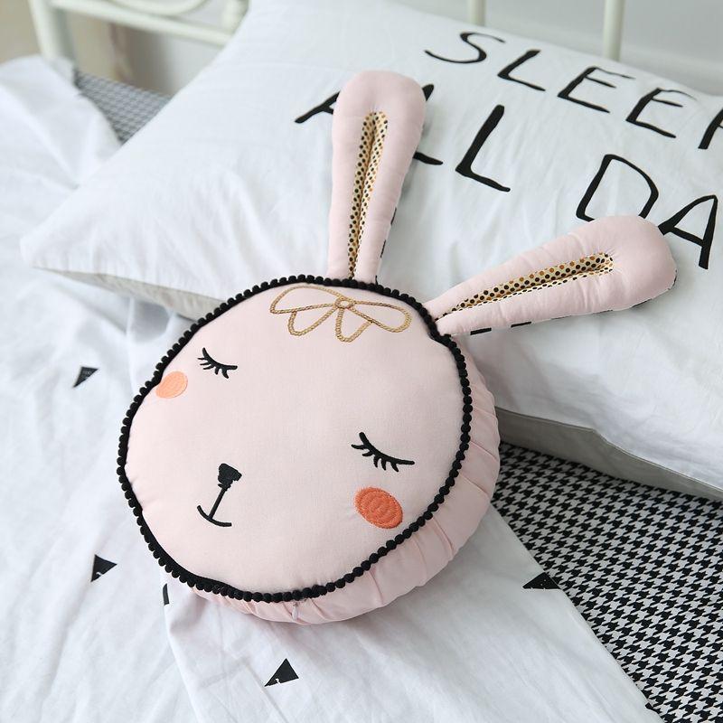 Милый кролик игрушка розовый кролик глава хлопок подушка kisd игрушки подарок для девочки
