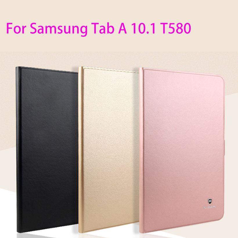 En cuir de luxe case pour samsung galaxy tab a a6 10.1 2016 t580 t585 sm-t580 t580n case couverture fondamentale mode tablet flip shell