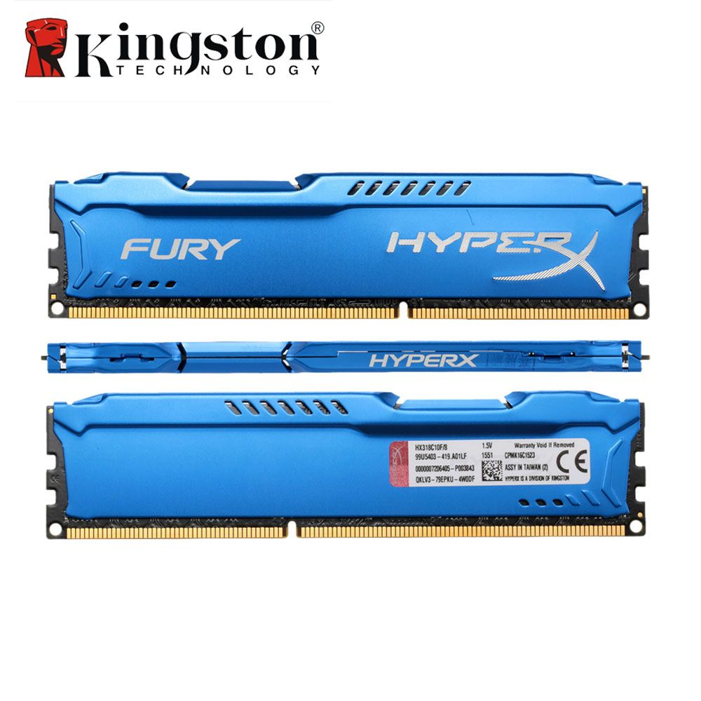 Kingston HyperX FURY DDR3 4GB 8GB 1866MHz Memory DIMM RAM CL10 1.5V 240-Pin SDRAM 4GB DDR3 8GB Memoria For Desktop PC Gaming